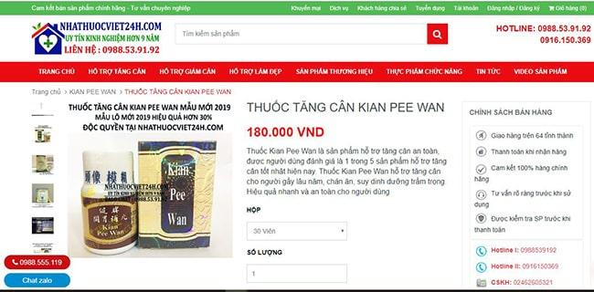 mua thuốc kian pee wan