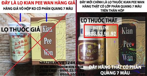 kian pee wan hàng giả