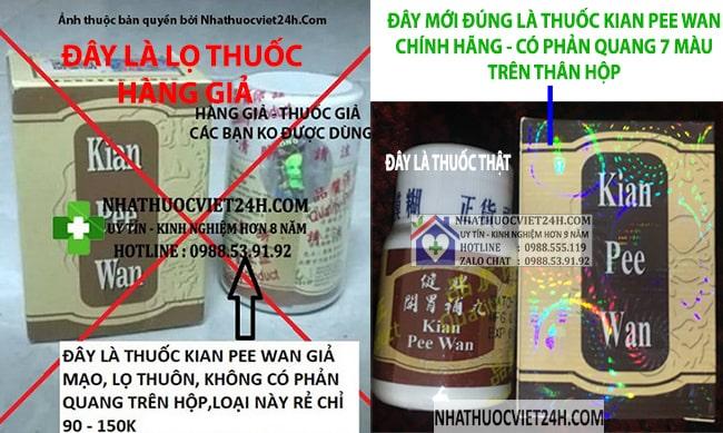 thuốc kian pee wan giả mạo