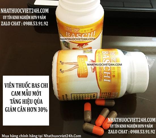 thuốc giảm cân baschi cam mẫu mới
