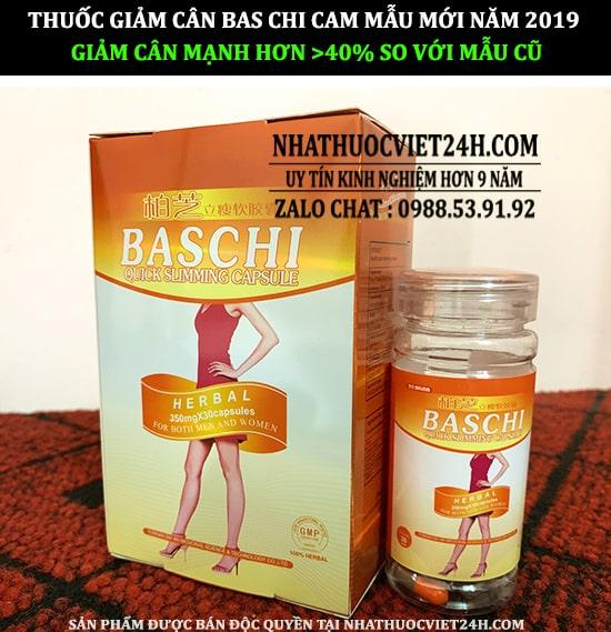 thuốc giảm cân baschi dạng lọ, baschi mẫu mới, thuốc baschi cam thế hệ mới