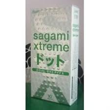 Bao cao su mỏng và có gai Sagami Xtreme Blu