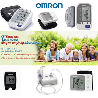 Máy đo huyết áp, đường huyết Omron