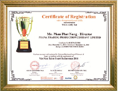 Doanh nhân tâm tài Việt Nam năm 2014