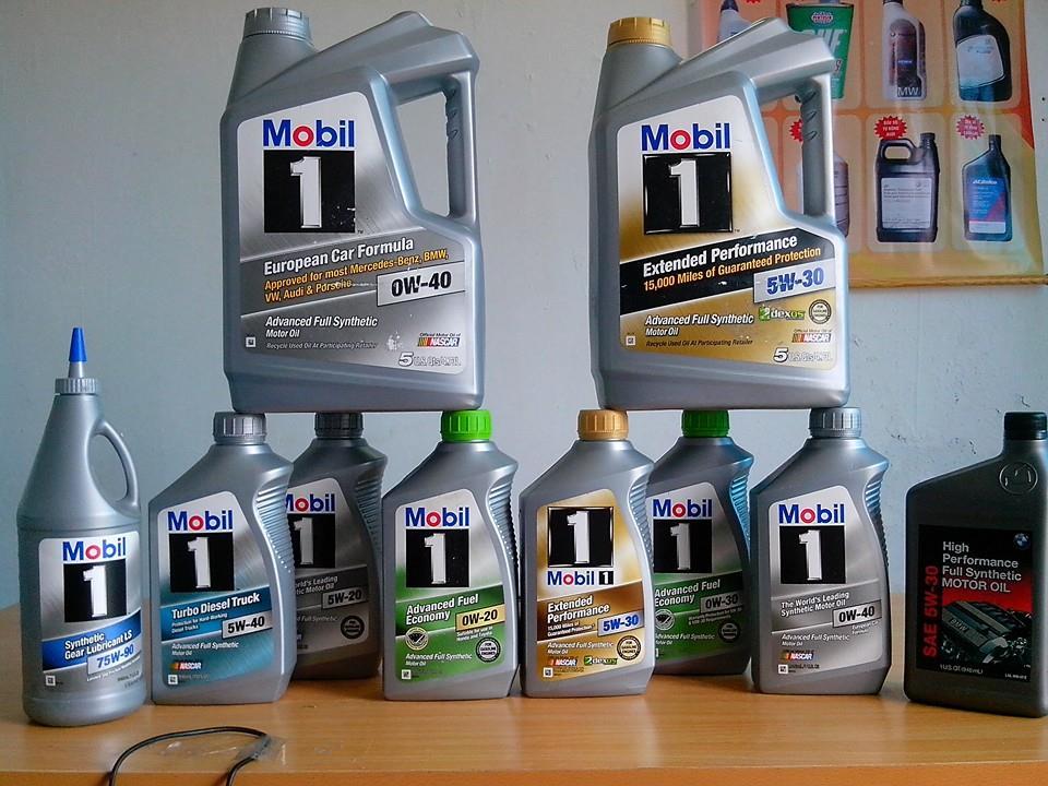 Các phẩm cấp dầu Mobil1