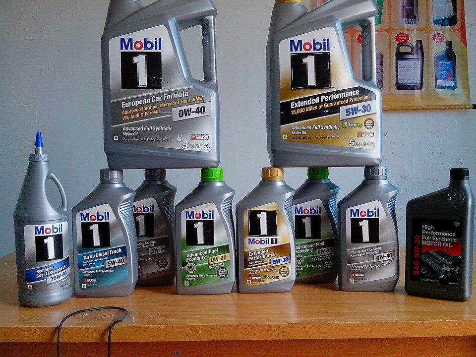 các sản phẩm dầu mobil1