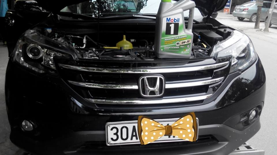 thay dầu mobil1 xe crv-2014