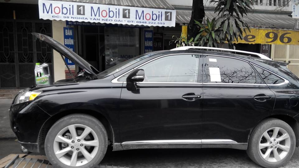 thay dầu mobil1 xe lexus rx350
