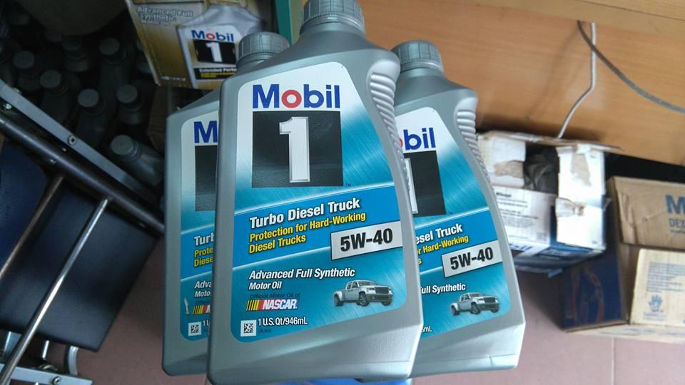 Dầu mobil1 5w40 tubor diesel