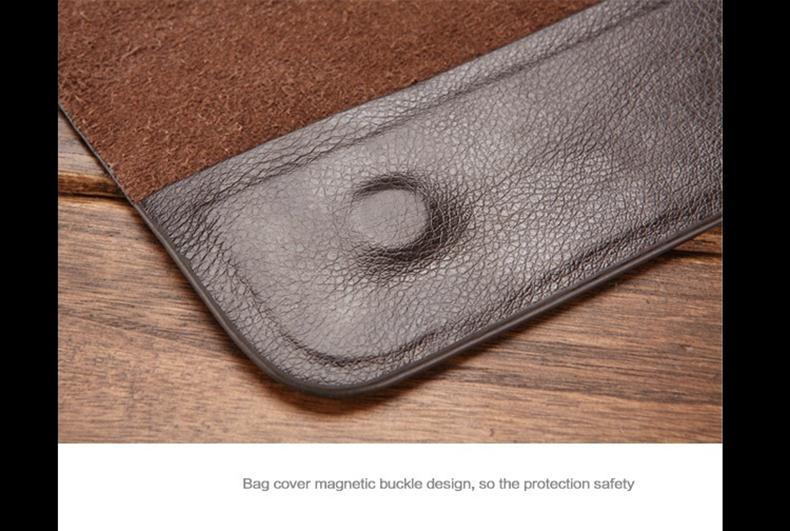 Chất liệu da thật làm nên vẻ sang trọng của túi đựng ipad Feger