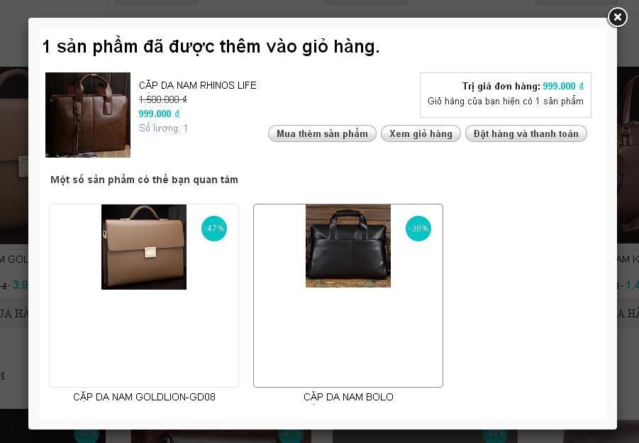 Tiếp tục thanh toán và mua hàng tại Phukiendoda.com