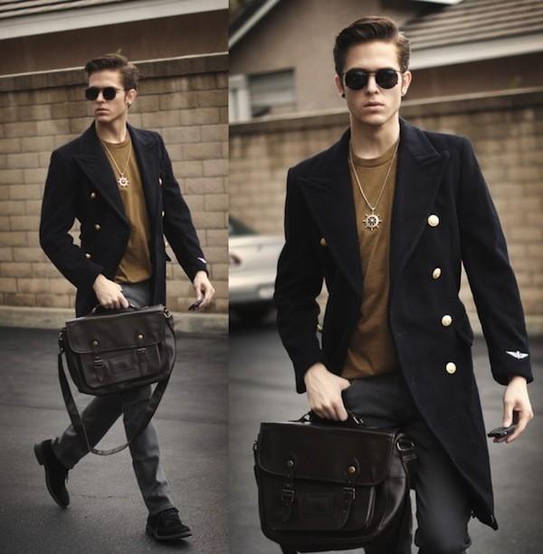 Cặp da nam  và phong cách thời trang trẻ trung