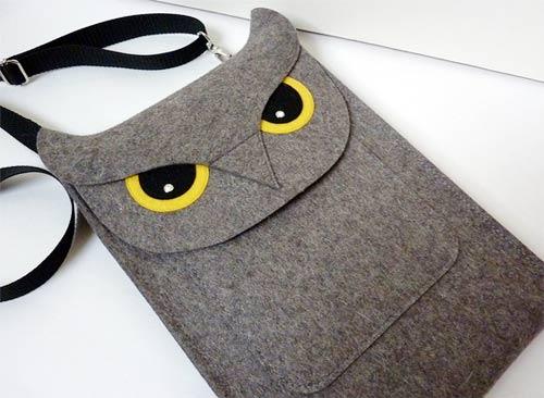 Túi đựng ipad hình cú mèo