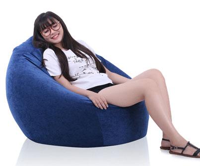 Ghế lười giọt nước Tựa lưng Size trung (80 x110cm) vải Kate
