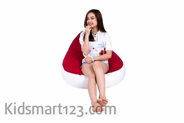 Ghế lười quả Lê có tựa lưng Size Đại (90 x120cm) vải Nhung Lạnh