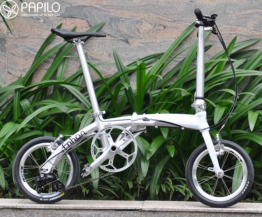 Xe đạp gấp Fnhon 14 inch khi chưa gấp