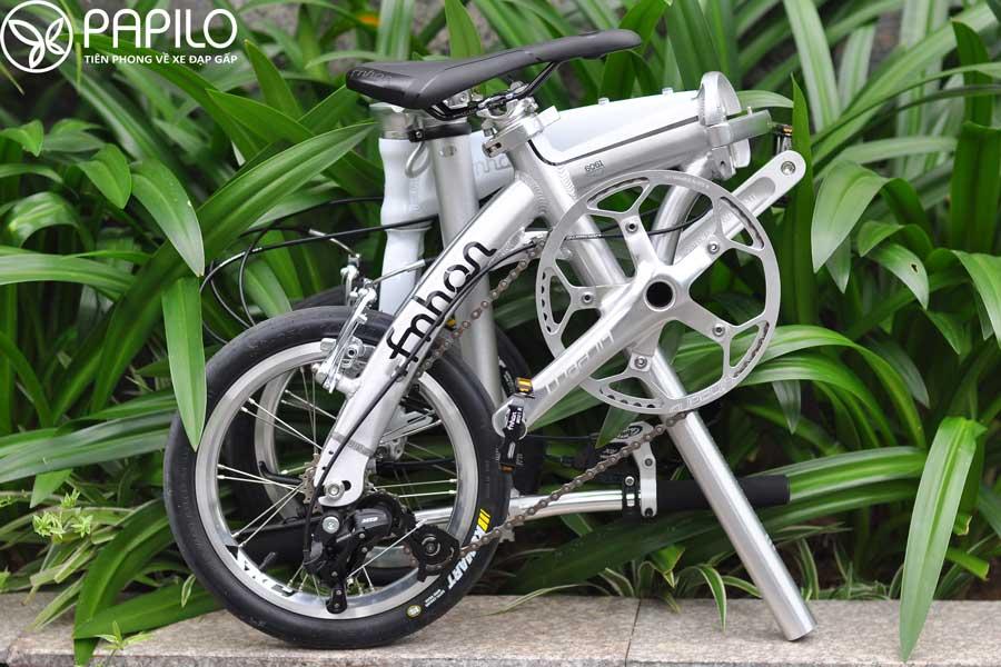 Xe đạp gấp fnhon 14 khi gấp lại
