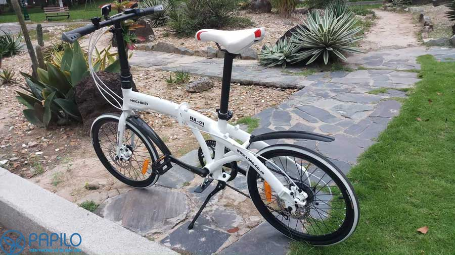 Xe đạp gấp Hachiko sử dụng 5 năm mà vẫn mới nguyên