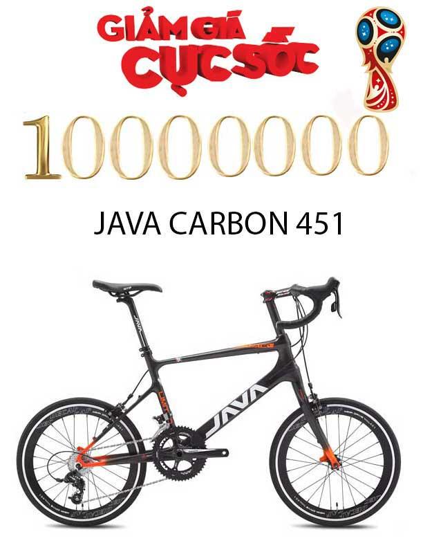 Giảm 10.000.000 đồng khi mua xe đạp thể thao java carbon 451 siêu nhẹ