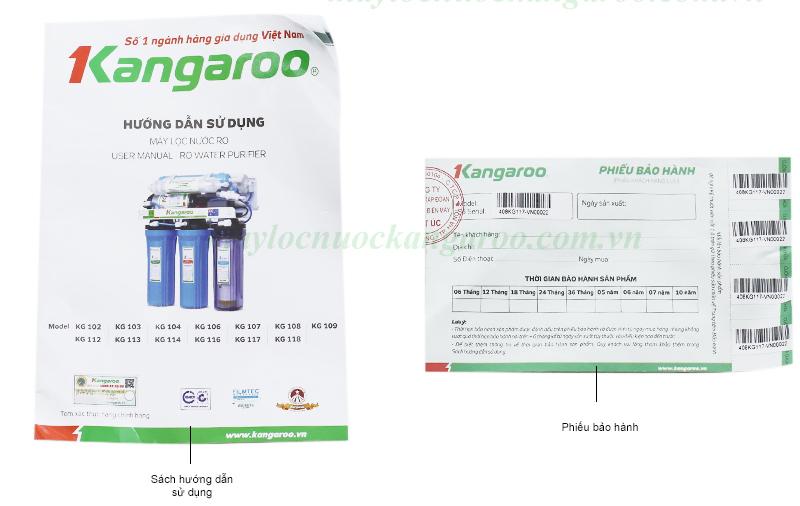 tem bảo hành máy lọc nước kangaroo KG108 đèn uv không tủ