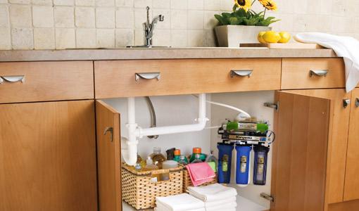 máy lọc nước lắp dưới chậu bếp