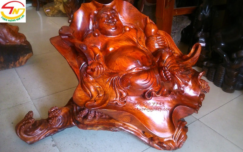 Tượng Phật Di Lặc ngồi sen