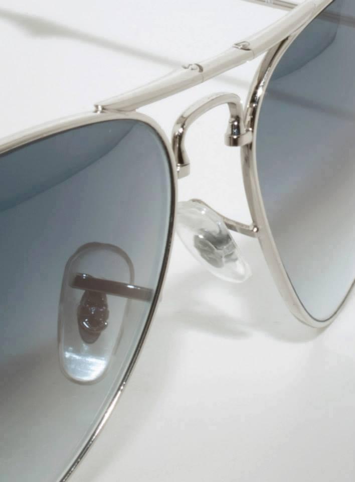 Mắt kính RayBan gập cao cấp màu Xám Tro 4