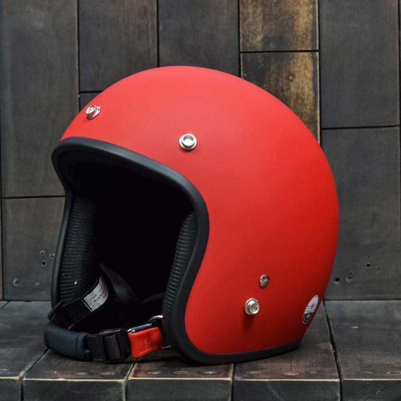 Mũ bảo hiểm 3/4 Dammtrax màu đỏ nhám 1