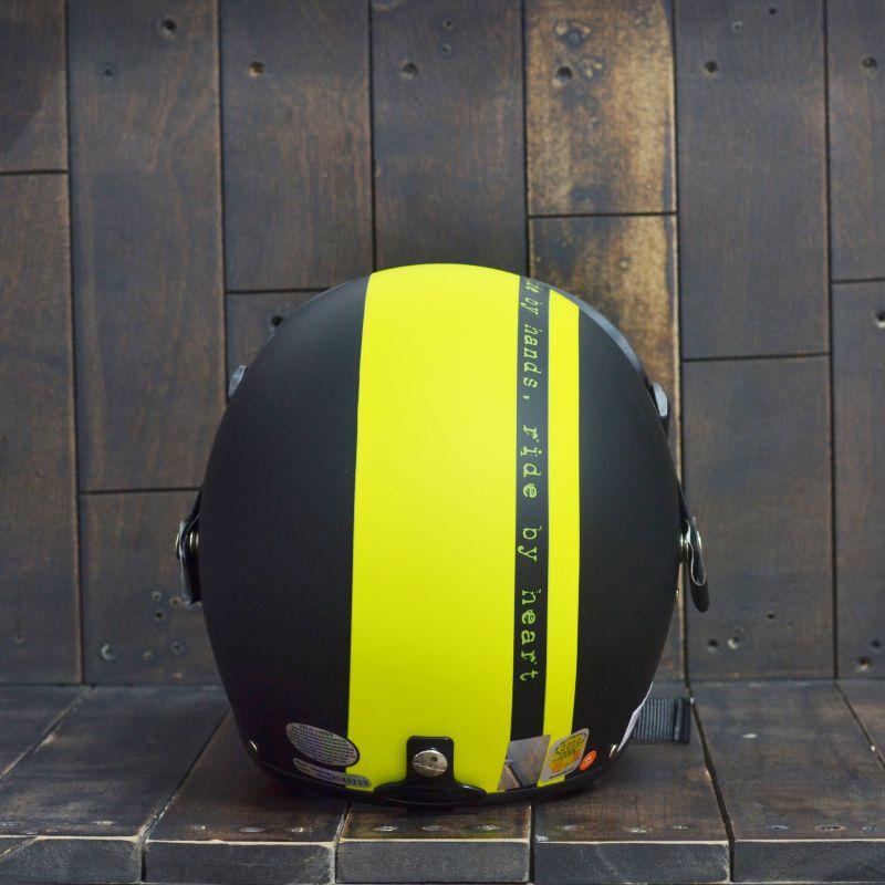 Mũ Bảo Hiểm 3/4 Andes 103D RIDE Đen Vàng Nhám 2
