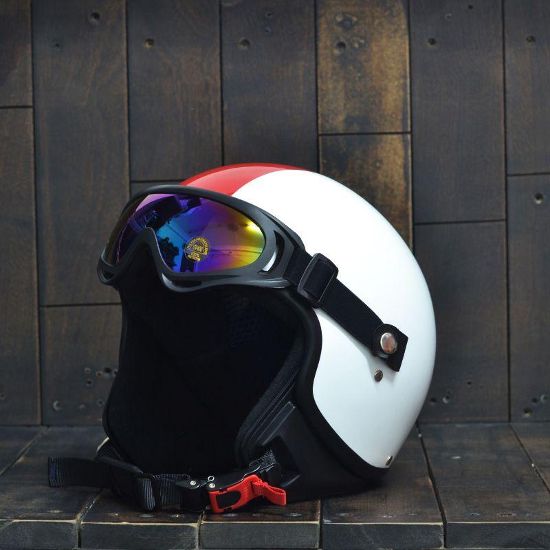 Mũ Bảo Hiểm 3/4 Andes 103D RIDE Trắng Đỏ 1