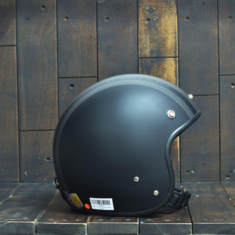 Mũ bảo hiểm 3/4 Andes-111-Ride-Matt-Black 4