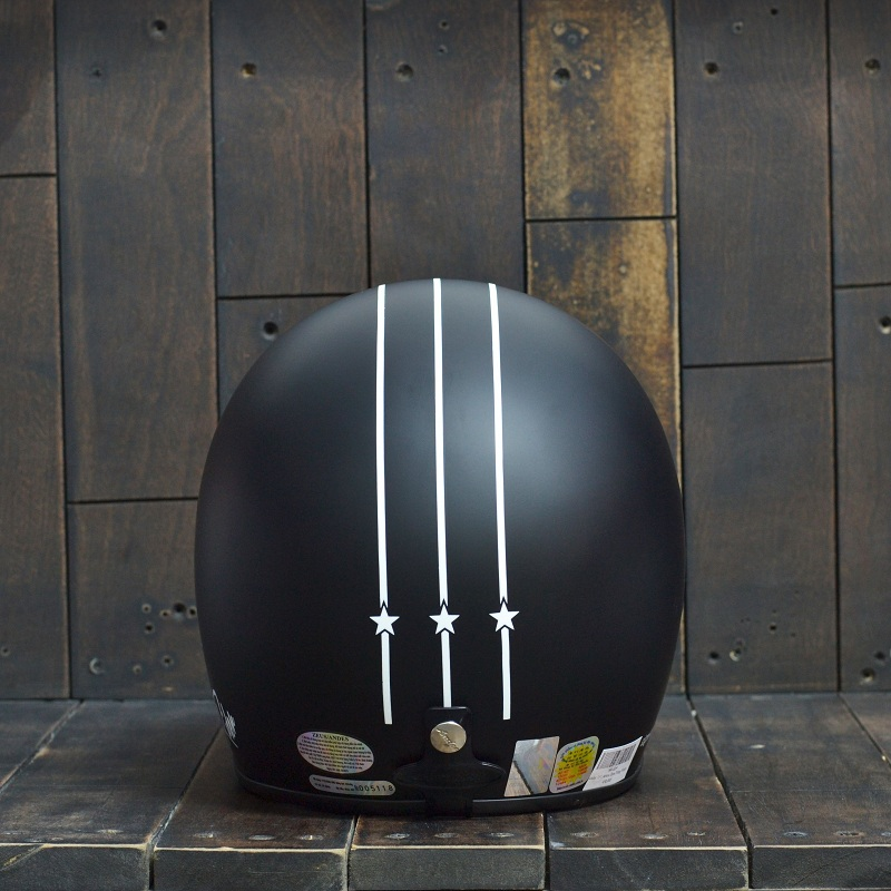 Mũ Bảo Hiểm Andes 111 Arrow Đen/Trắng Nhám 2
