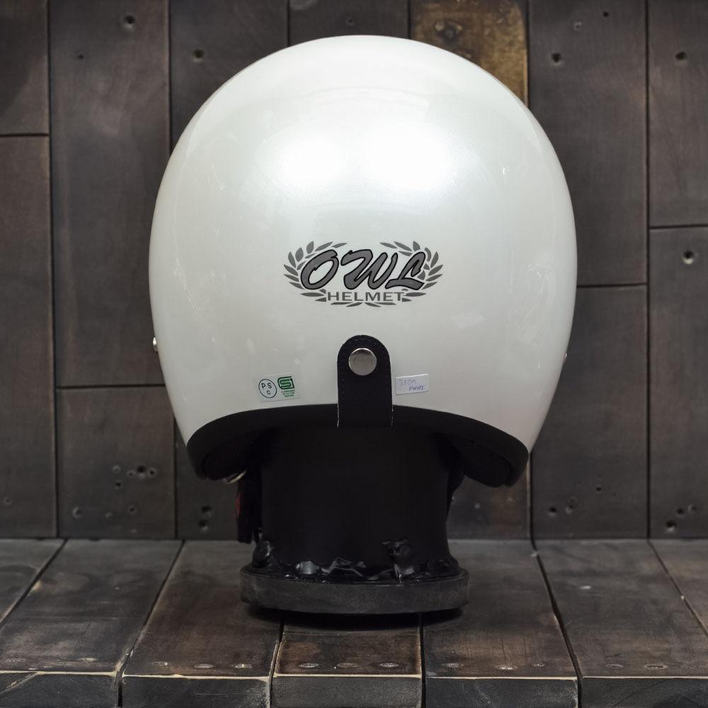Mũ bảo hiểm 3/4 OWL HBSmall JET TT Pearl White 4