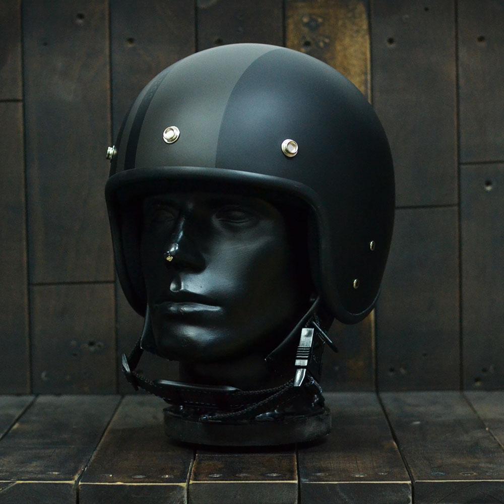 Mũ bảo hiểm 3/4 Andes-111-Ride-Matt-Black