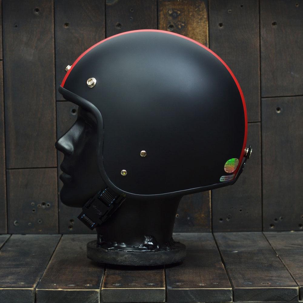 Mũ bảo hiểm 3/4 Andes 111 Ride Matt Black Red 1