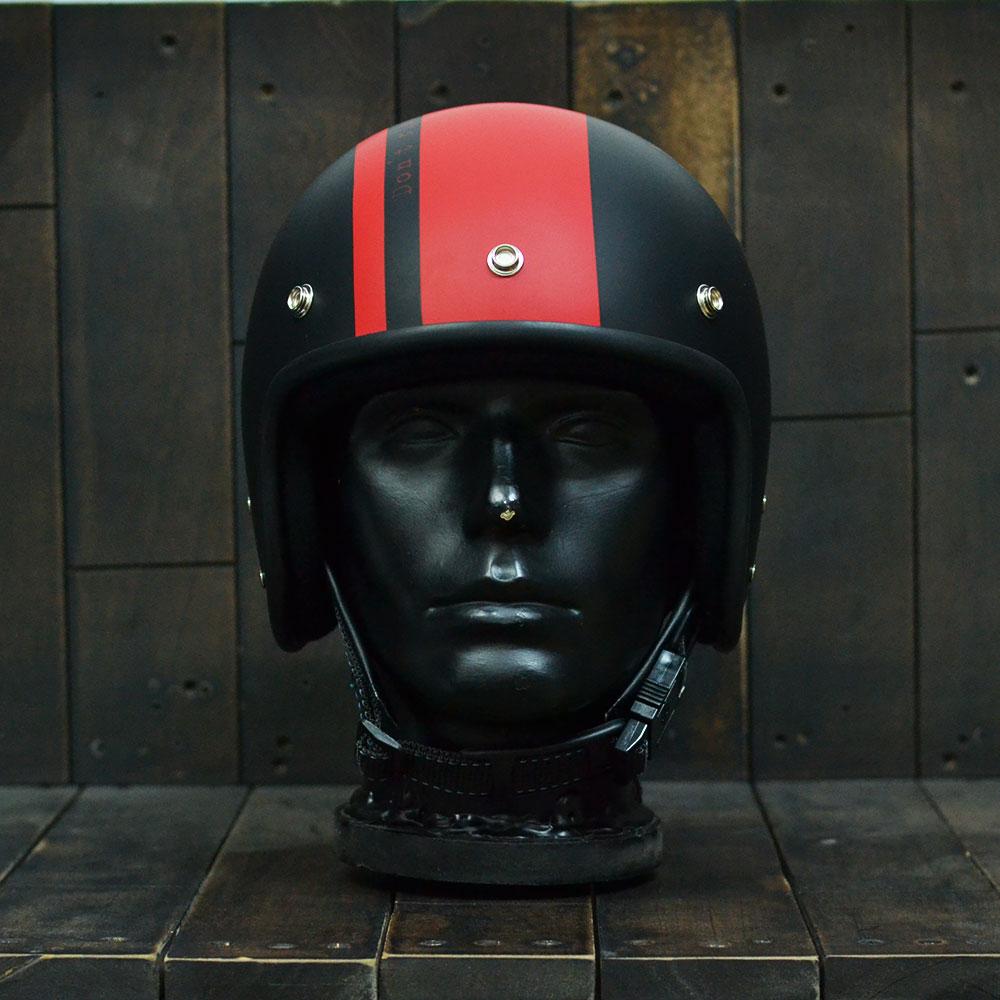 Mũ bảo hiểm 3/4 Andes 111 Ride Matt Black Red