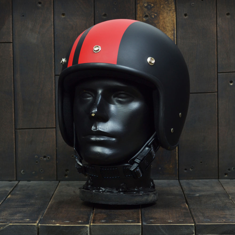 Mũ bảo hiểm 3/4 Andes 111 Ride Matt Black Red 6