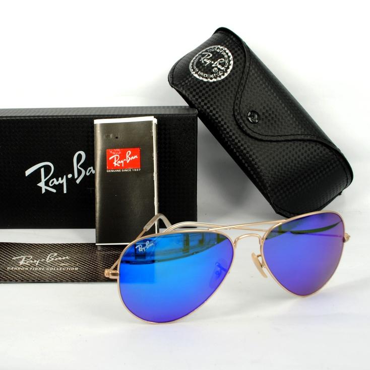 Mắt kính RayBan tráng gương xanh dương cao cấp RB01