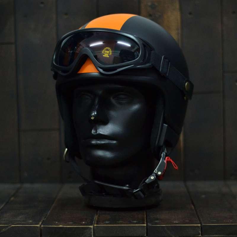 Mũ bảo hiểm 3/4 Andes 103D RIDE Đen/Cam Nhám 1