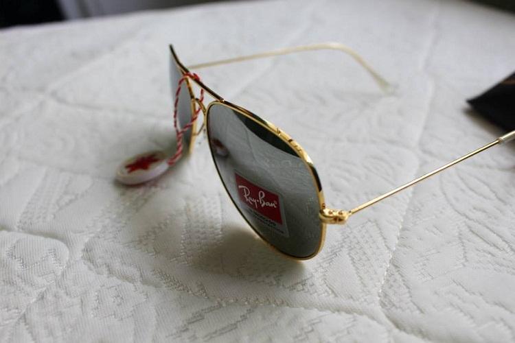 Mắt Kính RayBan Tráng Gương bạc gọng vàng 2