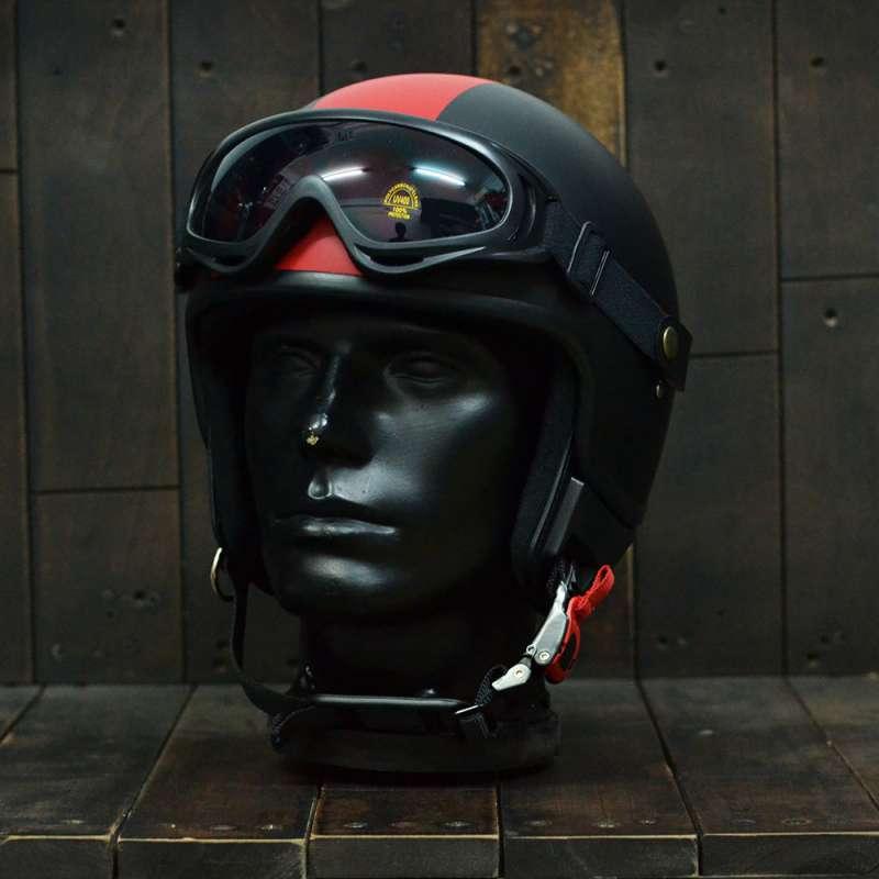 Mũ bảo hiểm 3/4 Andes 103D RIDE Đen/Đỏ Nhám 1