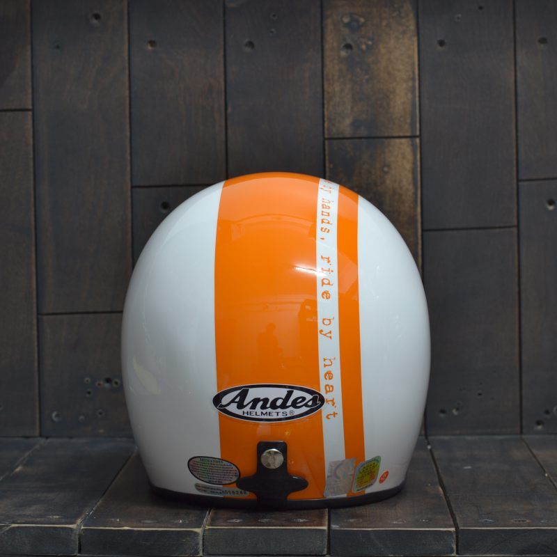 Mũ bảo hiểm 34 Andes 111 Trắng Cam 2