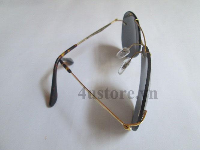 Mắt Kính Rayban Aviator 8055 Teach Màu Đen 9