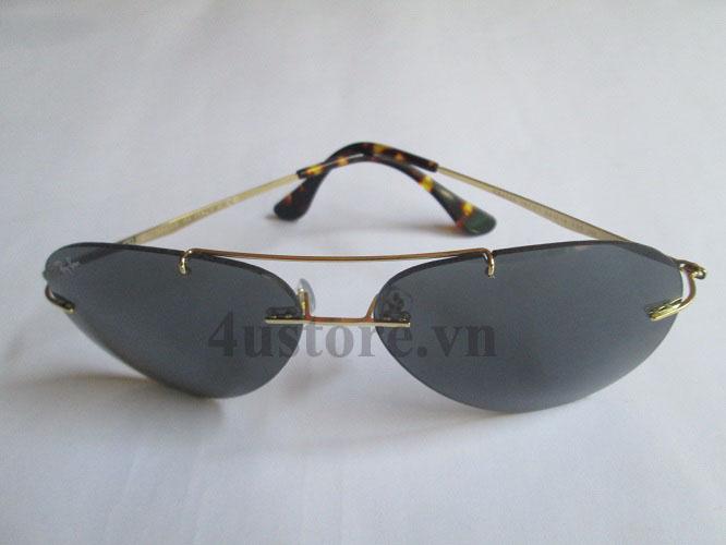 Mắt Kính Rayban Aviator 8055 Teach Màu Đen 8