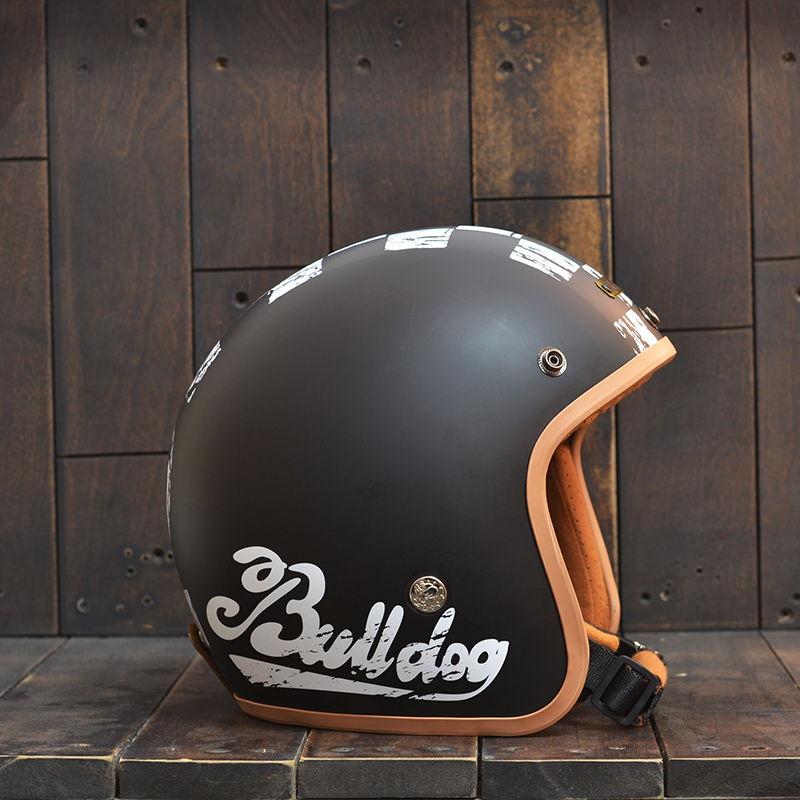 Mũ Bảo Hiểm 3/4 Bulldog Perro Đen 79