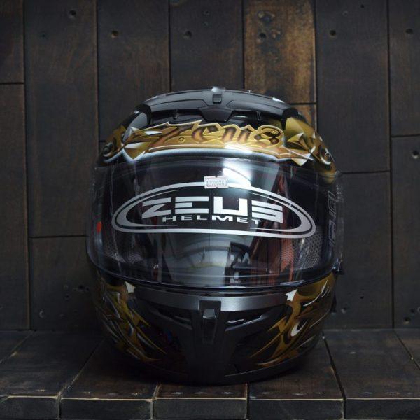 Mũ Bảo Hiểm Zeus 1200 Đen/ Gold 1