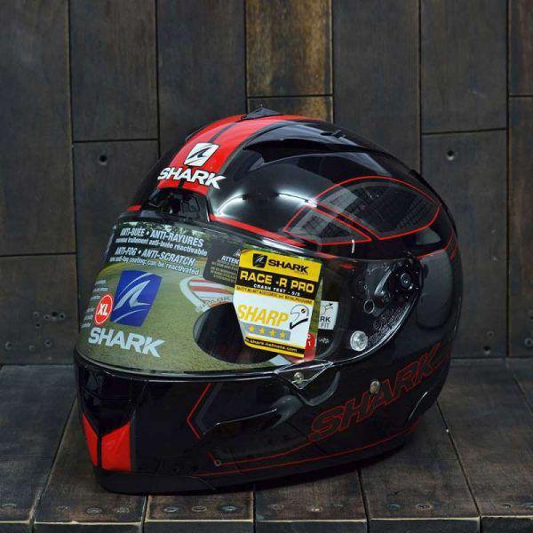 Mũ Bảo Hiểm Shark Race – R Pro Carbon Chaz Đỏ 2
