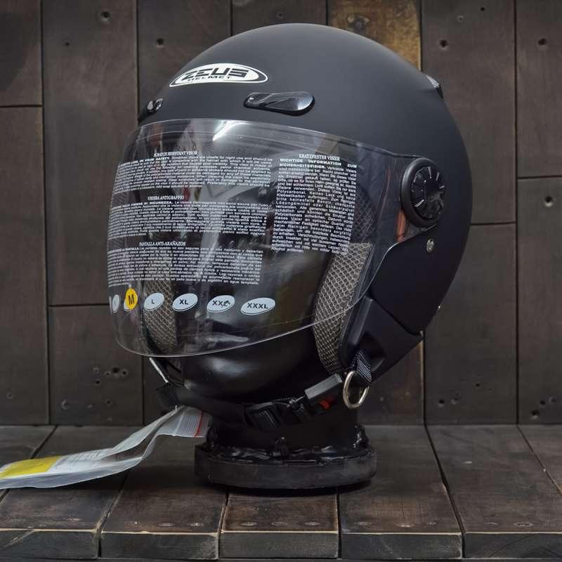 Mũ Bảo Hiểm Zeus 210B Đen Nhám 1