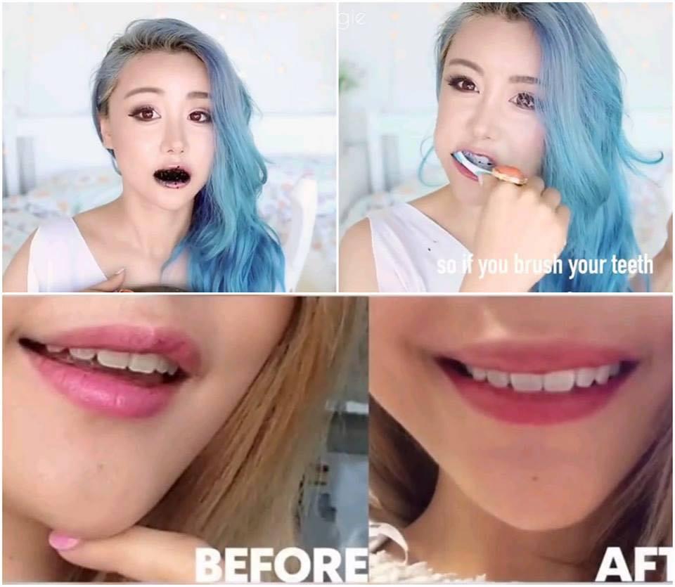 Bột than hoạt tính tẩy trắng răng Activated Charcoal review