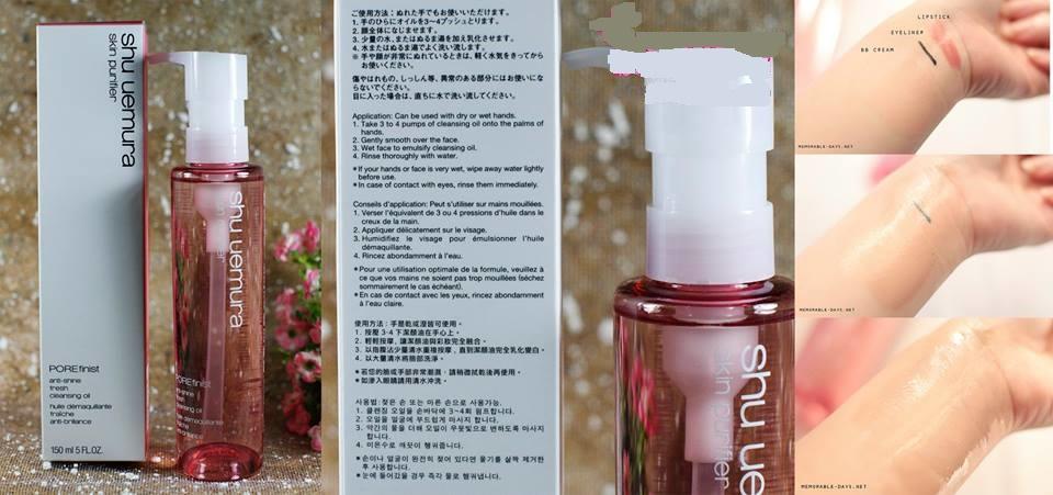 Dầu tẩy trang Shu Uemura hồng 150ml